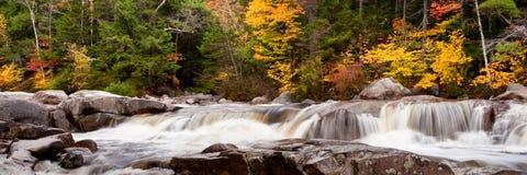 Cascata e colori di autunno Fotografie Stock Libere da Diritti