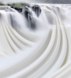 Cascata e flusso astratto Fotografia Stock Libera da Diritti
