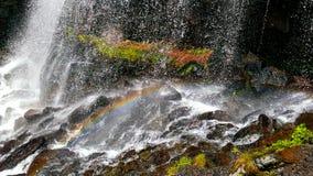 Cascata e Rainbow Fotografie Stock