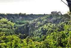 Cascata esotica in Mauritius Immagine Stock Libera da Diritti