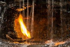 Cascata eterna della fiamma a New York Fotografia Stock Libera da Diritti
