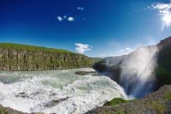 Cascata famosa di Gullfoss in Islanda del sud Fotografia Stock Libera da Diritti
