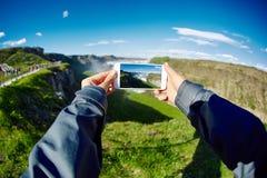 Cascata famosa di Gullfoss in Islanda del sud Fotografie Stock