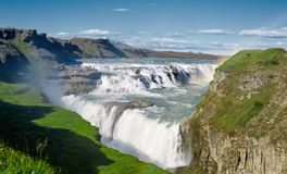 Cascata famosa di Gullfoss in Islanda del sud Immagine Stock Libera da Diritti