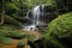 Cascata in foresta profonda Fotografie Stock