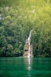 Cascata in foresta profonda della Germania Fotografie Stock Libere da Diritti