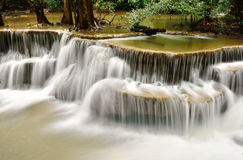 Cascata in foresta profonda tropicale fotografia stock libera da diritti