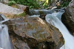 Cascata fresca di estate della montagna Immagini Stock Libere da Diritti