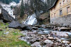 Cascata in Gastein difettoso Fotografie Stock
