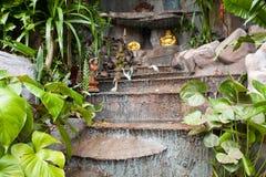 Cascata in giardino Immagine Stock Libera da Diritti
