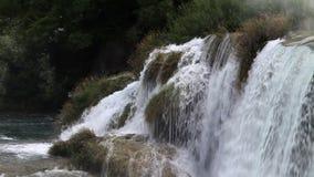 cascata grande su Krka fiume-Croazia video d archivio