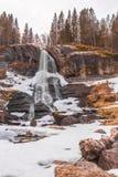 Cascata II di Steinsdalfossen Immagine Stock Libera da Diritti