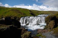Cascata in Islanda Immagine Stock