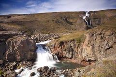Cascata in Islanda Immagine Stock Libera da Diritti