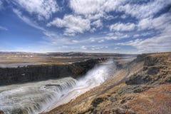 Cascata in Islanda Fotografie Stock Libere da Diritti