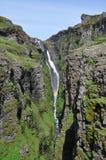 Cascata Islanda di Glymur Fotografia Stock Libera da Diritti