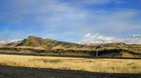 Cascata Islanda di Seljalandsfoss Fotografie Stock Libere da Diritti