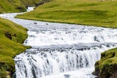 Cascata islandese Immagine Stock Libera da Diritti