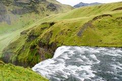 Cascata islandese Fotografie Stock Libere da Diritti