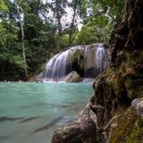 Cascata Kanchanaburi di Erawan Fotografie Stock