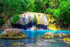 Cascata in Kanchanaburi, Tailandia di Erawan Fotografia Stock Libera da Diritti