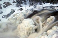 Cascata Kivach di inverno Fotografia Stock Libera da Diritti