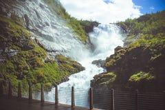 Cascata Kjosfoss Fotografia Stock
