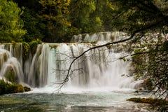 Cascata in Krka fotografia stock libera da diritti