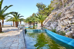 Cascata a Loutraki Grecia fotografia stock