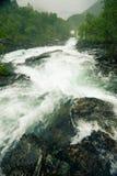 Cascata lungo il Aurlandsfjellet Norvegia Fotografia Stock Libera da Diritti