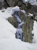 Cascata in montagna di Tatras Fotografie Stock Libere da Diritti