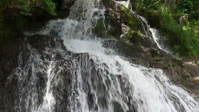 Cascata in montagne archivi video