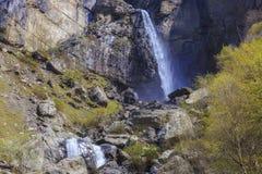 Cascata Muchug Il più alta cascata nell'Azerbaigian Immagini Stock Libere da Diritti