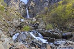 Cascata Muchug Il più alta cascata nell'Azerbaigian Fotografie Stock Libere da Diritti