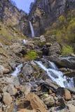 Cascata Muchug Il più alta cascata nell'Azerbaigian Immagini Stock