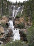 Cascata multilivelli in Jasper National Park Fotografie Stock