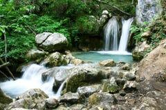 Cascata nascosta della foresta pluviale Fotografie Stock Libere da Diritti