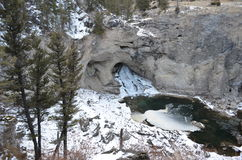 Cascata naturale del ponte Fotografia Stock Libera da Diritti