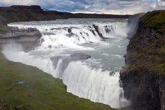 Cascata nel cerchio dorato dell'Islanda Immagini Stock