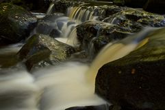Cascata nel distretto del picco di Derbyshire Immagine Stock