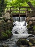Cascata nel parco di Oliwa, Danzica, Polonia fotografia stock libera da diritti
