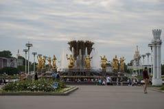 Cascata nel parco di VDNX, Mosca Fotografia Stock Libera da Diritti