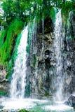 Cascata nel parco nazionale in Croazia Fotografia Stock