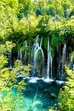 Cascata nel parco nazionale in Croazia Fotografie Stock Libere da Diritti