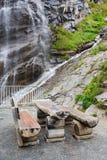Cascata nel parco nazionale di Hohe Tauern Fotografia Stock