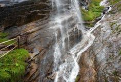 Cascata nel parco nazionale di Hohe Tauern Fotografie Stock