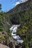 Cascata nel parco nazionale di Yellowstone, Wyoming, U.S.A. Fotografia Stock