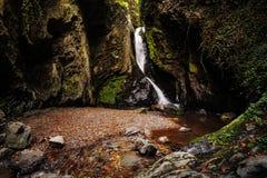 Cascata nel Tiefenbachtal Immagini Stock