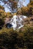 Cascata nella foresta di autunno al cittadino della cascata di Salika in Tailandia Fotografie Stock