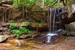 Cascata nella foresta pluviale Fotografia Stock Libera da Diritti